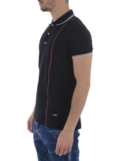 Suspender Polos printed check suspender polo by dsquared2 polo shirts