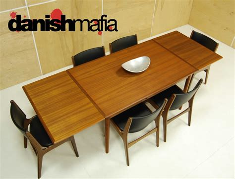 mid century modern teak dining complete set table
