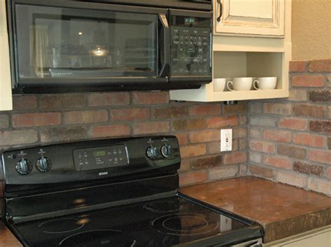 how to install a backsplash in the kitchen how to install a brick backsplash in a kitchen how tos diy