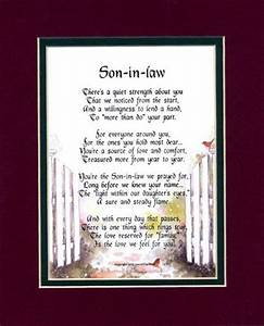 quotson in lawquot touching 8x10 poem double matted in burgundy With wedding gift for son and daughter in law