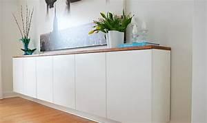 Sideboard Weiß Hochglanz Hängend : sideboard h ngend an der wand f r eine schicke ~ Pilothousefishingboats.com Haus und Dekorationen