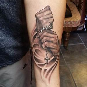 Praying Hands Tattoo with Meaning - Jesus Hand Tattoo with ...