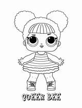 Lol Bee Coloring Queen Surprise Dolls Doll Cartoon Printable Boy Pintar Colorir Kleurplaat Drawing Kleurplaten Ladybug Toys Desenhos Desenho Disney sketch template