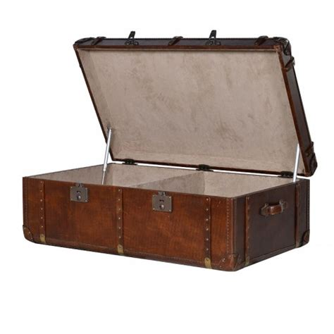 leather steamer trunk coffee table luxury steamer trunk coffee table