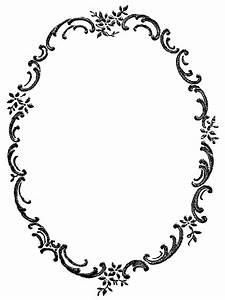 Digital Stamp Design: Free Digital Fancy Floral Frame ...