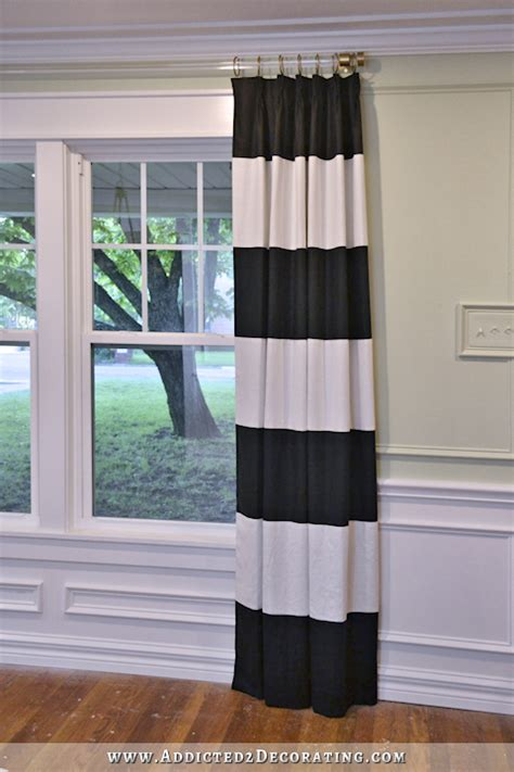 black and white horizontal striped curtains diy black and white horizontal striped curtains curtain