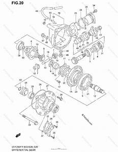 Suzuki Atv 2002 Oem Parts Diagram For Differential Gear
