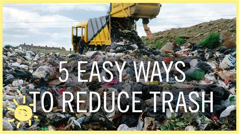 Tips  5 Easy Ways To Reduce Trash! Youtube