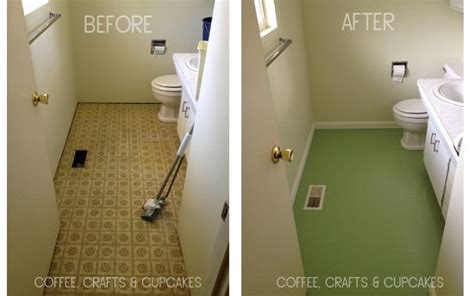 paint linoleum gret idea  give  downstairs