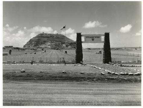 5th Marine Cemetery At Foot Of Mount Suribachi On Iwo Jima