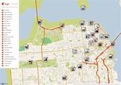San Francisco Printable Tourist Map | Sygic Travel
