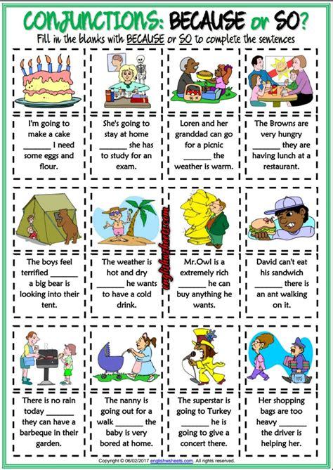 Because Or So Esl Printable Gap Fill Exercise Worksheet  Esl  Teaching English, English
