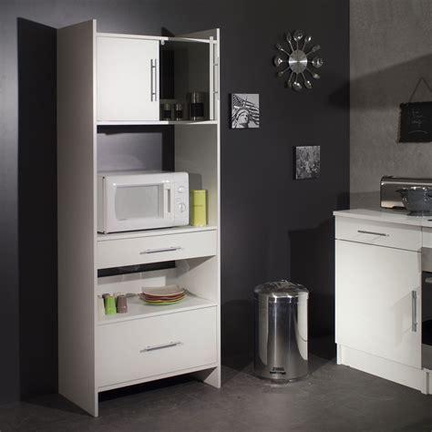 photo de meuble de cuisine meuble desserte micro ondes l70xp40xh180cm simply blanc