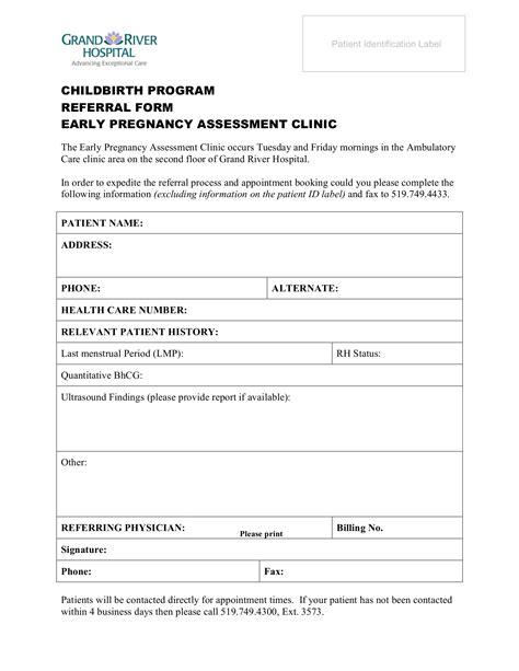 grand river hospital childbirth program referral form