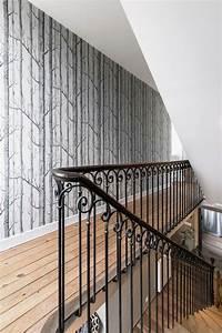 Papier Peint Pour Couloir : couloir astuces d co peinture papier peint c t maison ~ Melissatoandfro.com Idées de Décoration