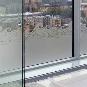 sticker occultant pour vitre et fenetre vague tsunami With salle de bain design avec film adhésif décoratif pour fenetre