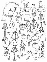 Coloring Pages Lamp Drawing Lamps Adult Letter Doodle Cool Spinsterhooddiaries Interior Adults sketch template