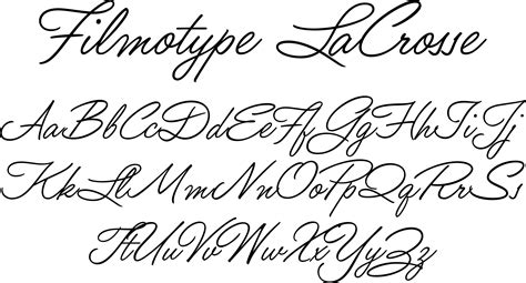 Beautiful Scripts And Fonts by Filmotype Lacrosse Font Beautiful And Flowing With A