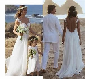 backless lace wedding dressopen back beach wedding With beach lace wedding dresses