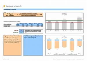 Durchlaufzeit Berechnen : flie grad f r ein produkt excel tabelle business ~ Themetempest.com Abrechnung