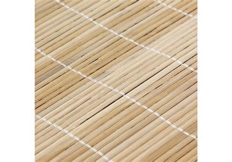 tapis en bambou fines lattes  ganse naturel  p