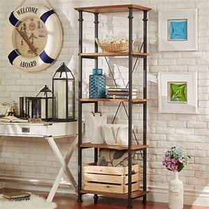 Modern, Rustic, Bookcase, Tall, Narrow, Vintage, Industrial, 4