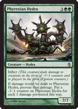 Mtg Standard Infect Deck by Phyrexian Hydra Mirrodin Besieged Spoiler Hydra