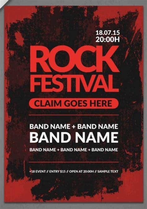 band poster mockups psd indesign ai