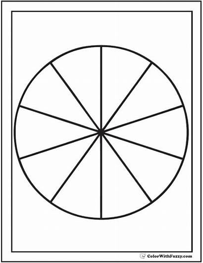 Pie Coloring Chart Section Circle Pages Shape