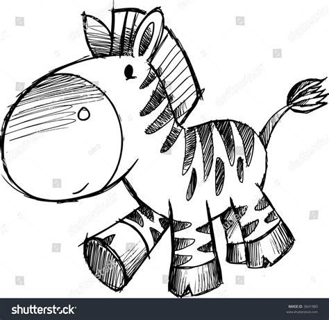 Vector Illustration Of A Zebra Sketch 3641983 Shutterstock