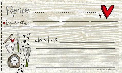 recipe card templates recipe cards printable