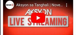 "LIVE NOW: ""Aksyon Sa Tanghali"" News5 November 25, 2019 ..."