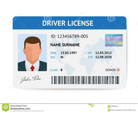 Flat Man Driver License Plastic Card Template, Id Card