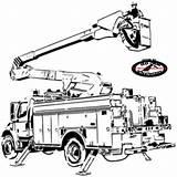 Bucket Truck Pattern sketch template