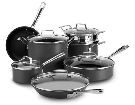 emeril nonstick cookware anodized clad hard emerilware piece kitchen pans pots sets cooking brand beyond bath bed scratch resistant cook