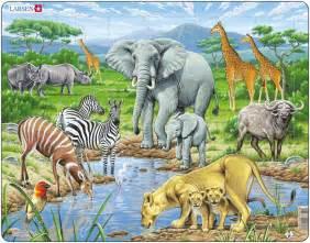 Le Animaux Savane by Puzzle Cadre Les Animaux De La Savane Africaine Larsen