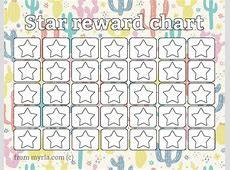 Printable reward charts Fill in the stars Myria