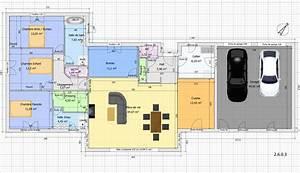 Plan Maison 4 Chambres Avec Suite Parentale : maison plain pied 4 chambres avec suite parentale ~ Melissatoandfro.com Idées de Décoration