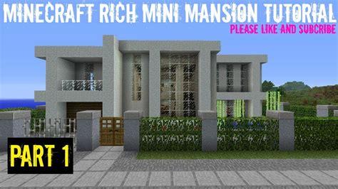 minecraft rich mini mansion tutorial part  youtube