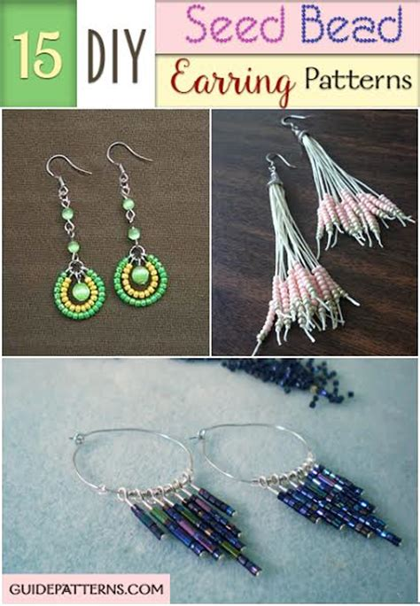 diy seed bead earring patterns guide patterns