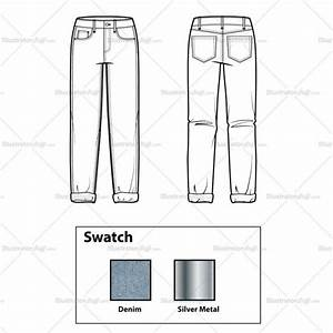 Boyfriend Jeans Flat Template  U2013 Illustrator Stuff