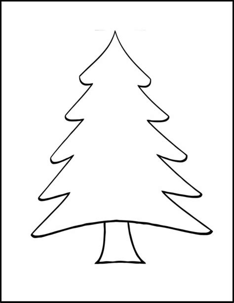 christmas tree  drawing clipartsco