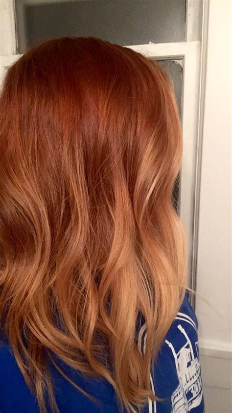 balayage rot blond die besten 25 ombre ideen auf copper
