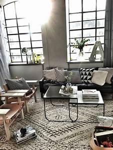 Deco Salon Pas Cher : d co salon idee d co salon pas cher avec tapis beige et noir avec une fenetre grande ~ Teatrodelosmanantiales.com Idées de Décoration