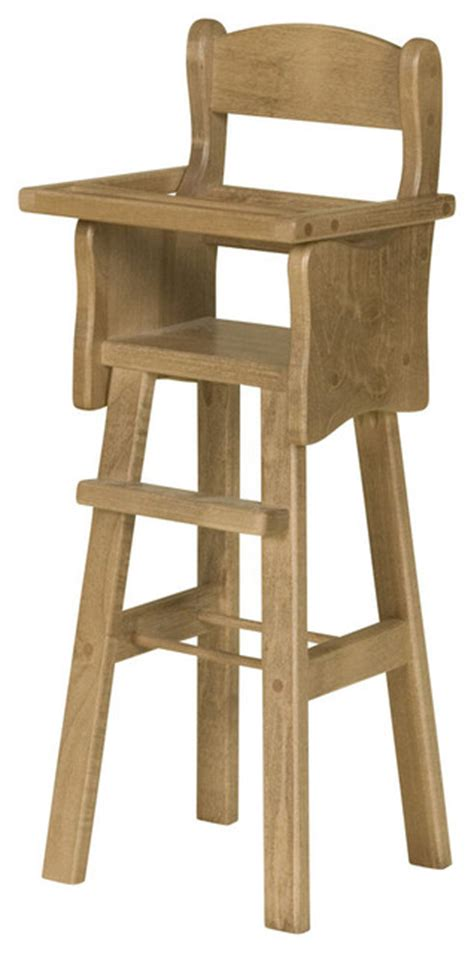 wooden doll high chair traditional toys and