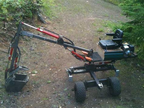 homemade diggers homebuilt excavators towable diggers backhoe plans