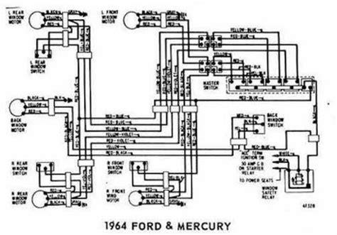 Ford Mercury Windows Control Wiring Diagram All