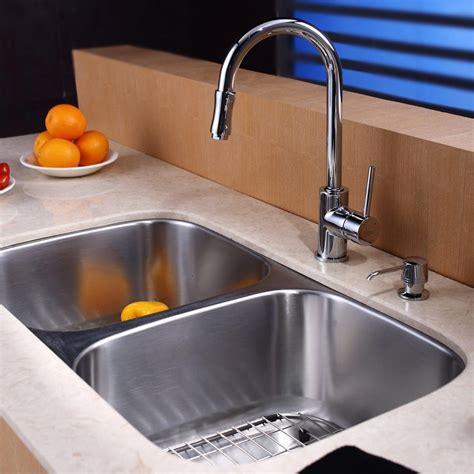 ada undermount kitchen sink kraus kbu22kpf1622ksd30ch 32 inch undermount 50 50 3986