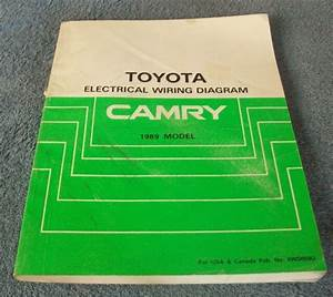 1988 Toyota Camry Factory Electrical Wiring Diagram Manual