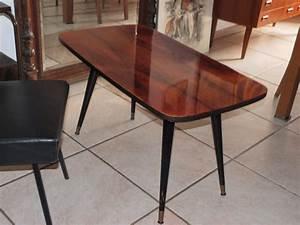 Table Basse Année 50 : lucie la chineuse table basse en noyer ann e 50 ~ Teatrodelosmanantiales.com Idées de Décoration